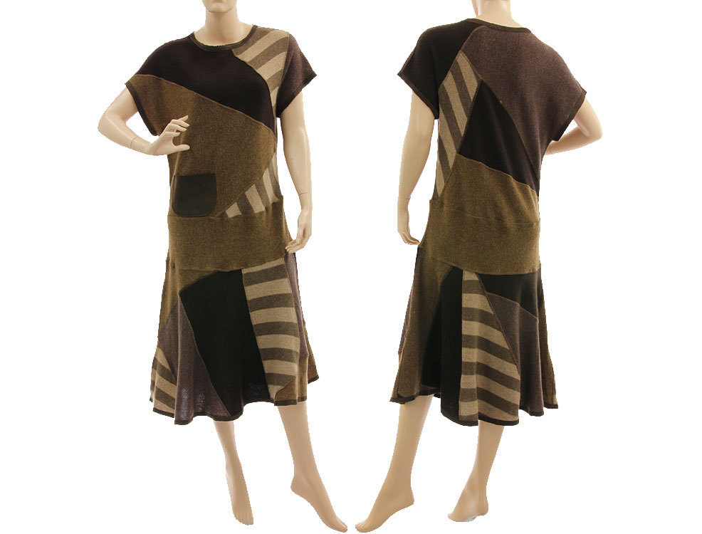 Kleid braun strick